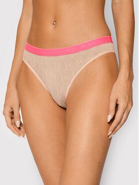 Pinko Pinko Klasické kalhotky Senza Parole AI 21-22 BLK01 AG16WM Y7ES Růžová