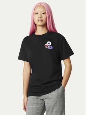 Converse Converse T-shirt Logo Distort Tee 10019115-A02 Crna Regular Fit