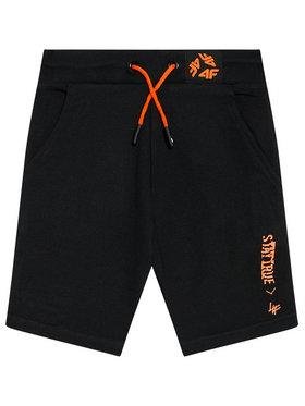 4F 4F Pantaloni scurți sport HJL21-JSKMD003 Negru Regular Fit