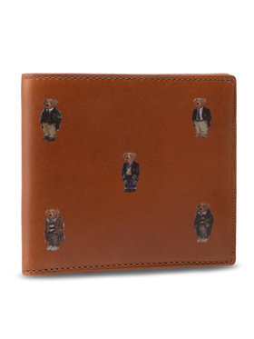Polo Ralph Lauren Polo Ralph Lauren Veľká pánska peňaženka Bear Bf 405826008002 Hnedá