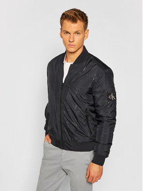 Calvin Klein Jeans Calvin Klein Jeans Μπόμπερ μπουφάν J30J315691 Μαύρο Regular Fit
