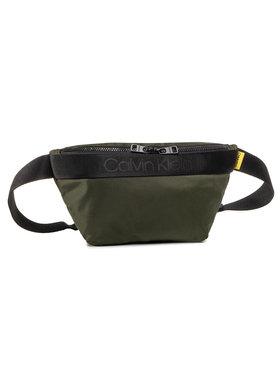 Calvin Klein Calvin Klein Saszetka nerka Nastro Logo Waistbag K50K505672 Zielony