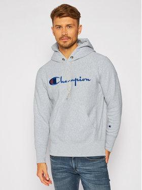 Champion Champion Bluza Script Logo 215210 Szary Custom Fit