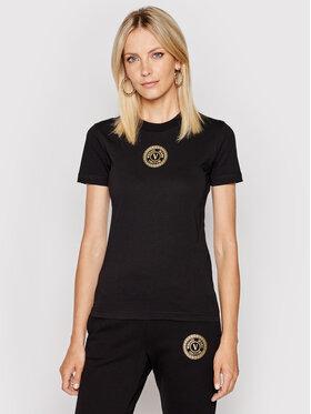 Versace Jeans Couture Versace Jeans Couture T-Shirt 71HAHT10 Czarny Regular Fit