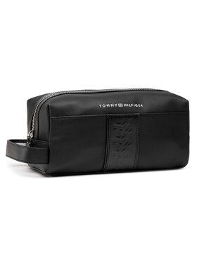 Tommy Hilfiger Tommy Hilfiger Geantă pentru cosmetice Leather Washbag AM0AM05757 Negru