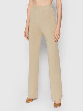 NA-KD NA-KD Kalhoty z materiálu Knitted 1100-004265-0052-581 Béžová Regular Fit
