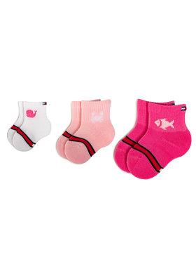 TOMMY HILFIGER TOMMY HILFIGER Σετ ψηλές κάλτσες παιδικές 3 τεμαχίων 320507001 Ροζ