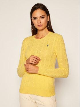 Polo Ralph Lauren Polo Ralph Lauren Sweter Julianna Wool/Cashmere 211525764076 Żółty Regular Fit