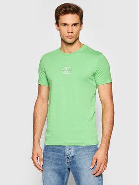 Calvin Klein Jeans Calvin Klein Jeans T-Shirt J30J317092 Grün Slim Fit