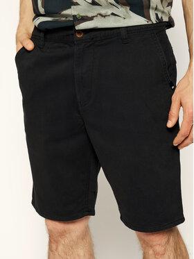 Quiksilver Bavlnené šortky EQYWS03468 Čierna Straight Fit