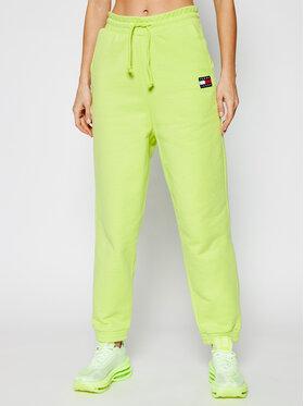 Tommy Jeans Tommy Jeans Teplákové kalhoty Tjw Hrs Badge DW0DW09740 Zelená Loose Fit