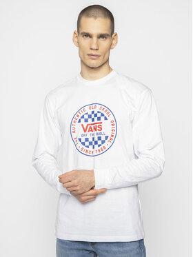 Vans Vans Marškinėliai ilgomis rankovėmis Checker VN0A49SZWHT1 Balta Classic Fit