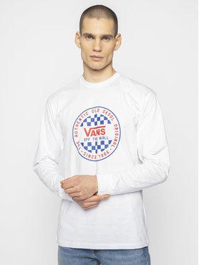 Vans Vans Тениска с дълъг ръкав Checker VN0A49SZWHT1 Бял Classic Fit