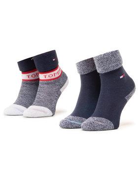 Tommy Hilfiger Tommy Hilfiger Σετ ψηλές κάλτσες παιδικές 2 τεμαχίων 100000797 Σκούρο μπλε