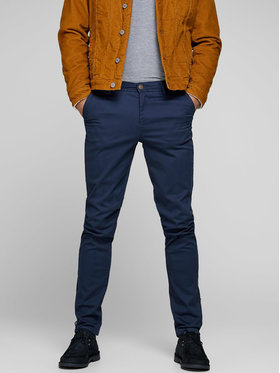 Jack&Jones Jack&Jones Чино панталони Marco 12150148 Тъмносин Slim Fit