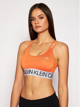 Calvin Klein Performance Calvin Klein Performance Biustonosz top Low 00GWF0K101 Pomarańczowy