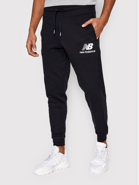 New Balance New Balance Pantaloni da tuta Essentials Stacked Logo MP03558 Nero Athletic Fit