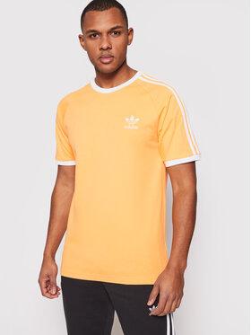 adidas adidas T-Shirt adicolor Classics 3-Stripes Tee GN3498 Pomarańczowy Slim Fit