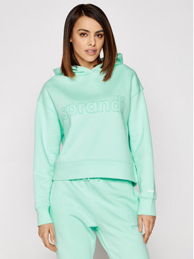 Sprandi Sprandi Bluză SS21-BLD004 Verde Regular Fit