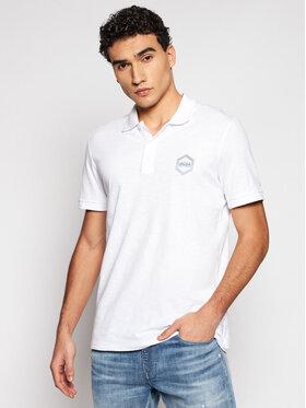 Jack&Jones Jack&Jones Тениска с яка и копчета Elight 12182651 Бял Regular Fit