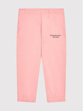 Calvin Klein Jeans Calvin Klein Jeans Spodnie dresowe Mini Monogram IG0IG01003 Różowy Regular Fit