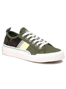 Pepe Jeans Pepe Jeans Sneakers aus Stoff Ottis Boy Camo PBS30477 Grün