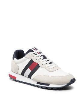 Tommy Hilfiger Tommy Hilfiger Sneakersy Retro Tjm Mix Pop Runner EM0EM00725 Beżowy