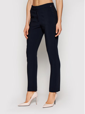 Tommy Hilfiger Tommy Hilfiger Текстилни панталони Core Suiting WW0WW29541 Тъмносин Slim Fit