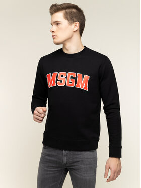 MSGM MSGM Felpa 2840MM178 207099 99 Nero Regular Fit