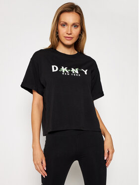 DKNY Sport DKNY Sport T-Shirt DP0T7854 Czarny Oversize