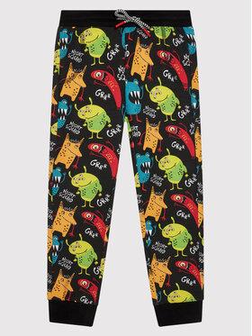 Coccodrillo Coccodrillo Teplákové kalhoty ZC1122701NIG Černá Regular Fit