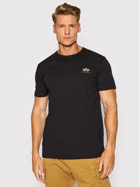 Alpha Industries Alpha Industries T-Shirt Basic Logo Foil Print 188505FP Czarny Regular Fit