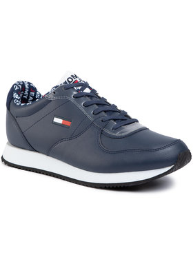 Tommy Jeans Tommy Jeans Laisvalaikio batai Casual Tommy Jeans Sneaker EM0EM00372 Tamsiai mėlyna
