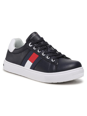 Tommy Hilfiger Tommy Hilfiger Sneakersy Low Cut Lace Up Sneaker T3B4-30921-0900 S Granatowy