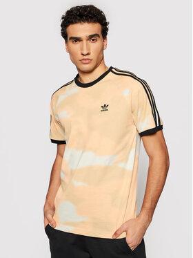 adidas adidas Póló Camo 3-Stripes GN1883 Bézs Regular Fit