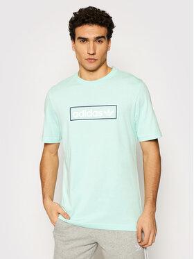 adidas adidas T-shirt Linear Logo HB1818 Zelena Regular Fit
