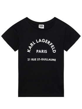 KARL LAGERFELD KARL LAGERFELD T-Shirt Z25272 D Czarny Regular Fit