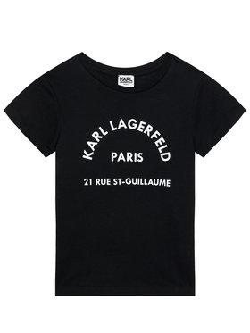 KARL LAGERFELD KARL LAGERFELD T-shirt Z25272 D Noir Regular Fit