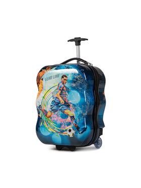 Semi Line Semi Line Kis kemény borítású bőrönd T5463-7 Kék