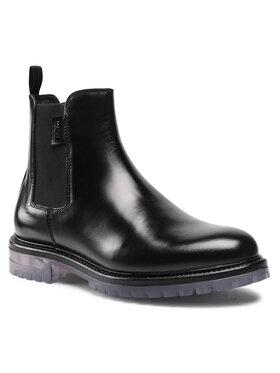 KARL LAGERFELD KARL LAGERFELD Kotníková obuv s elastickým prvkem KL11340 Černá