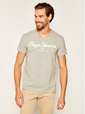 Pepe Jeans Pepe Jeans T-Shirt Original Stretch V PM500373 Šedá Slim Fit