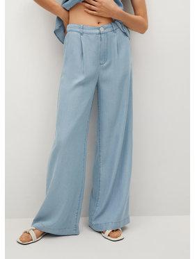Mango Mango Spodnie materiałowe Smart 87068637 Niebieski Relaxed Fit