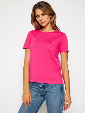 Calvin Klein Calvin Klein T-Shirt Small Logo K20K202132 Różowy Regular Fit