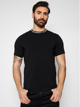 KARL LAGERFELD KARL LAGERFELD T-Shirt Crewneck 755022 511221 Schwarz Slim Fit
