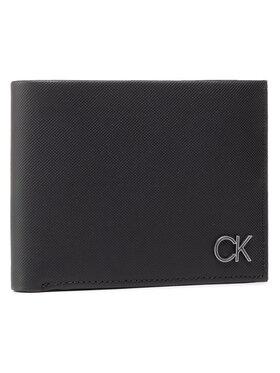 Calvin Klein Calvin Klein Didelė Vyriška Piniginė Trifold 10Cc W/Coin K50K506750 Juoda