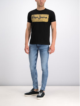 Pepe Jeans Pepe Jeans T-Shirt Charing PM503215 Černá Slim Fit