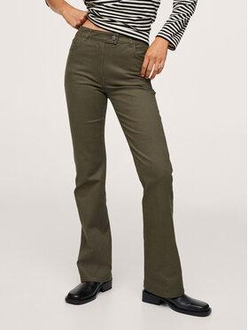 Mango Mango Pantaloni din material Catalina 17074393 Verde Regular Fit