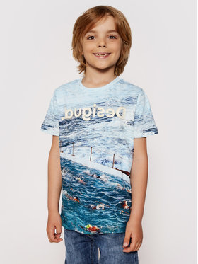 Desigual Desigual T-shirt Julio 21SBTK05 Plava Regular Fit