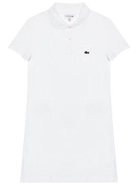 Lacoste Lacoste Ежедневна рокля EJ2816 Бял Regular Fit
