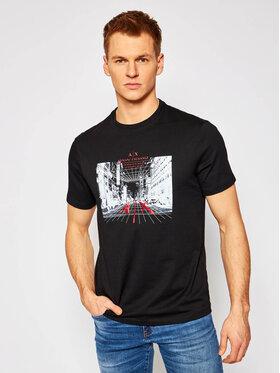 Armani Exchange Armani Exchange T-shirt 3KZTFH ZJH4Z 1200 Crna Regular Fit